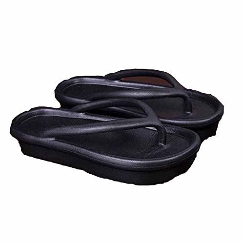 Non-slip Wear-resistant Platform Flip-flops - Quick Dry Flip Flops for Women, Comfort Casual Thong Sandals Outdoor, Flip Flop Sandals for Women Summer Indoor Outdoor (40-41, Black)