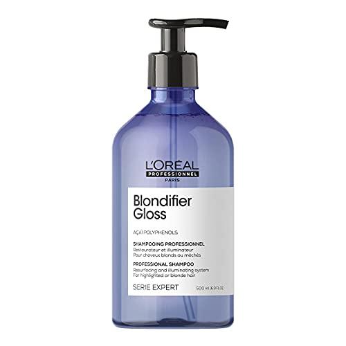 L'Oréal Professionnel | Shampoing Illuminateur pour Cheveux Blonds et Méchés, Blondifier Gloss, SERIE EXPERT, 500 ml