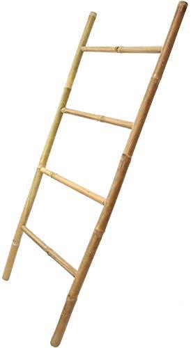 Handtuchleiter aus Bambus, 115 cm hoch, 4 Sprossen, Kleiderständer 3