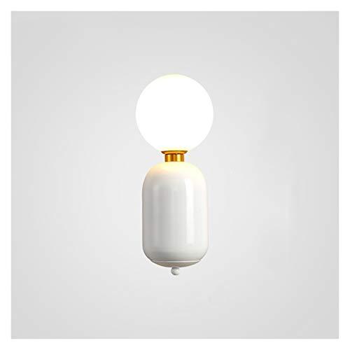 NYKK Moderna lámpara de Pared de Bola de Vidrio Minimalista Moderna Personalizada Sala de Estar luz de Pared lámparas de Pared de Pared de Dormitorio Creativo Lámpara de Pared LED