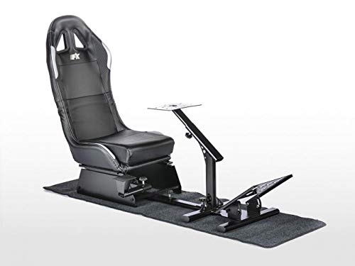 FK Gamesitz Spielsitz Rennsimulator eGaming Seats Suzuka Carbonlook mit Teppich schwarz/Silber