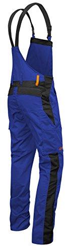 strongAnt - Männer Arbeits-Latzhose mit Kniepolstertaschen Berlin Kombi-Hose - Made in EU - Größe: 24, Farbe: Blau-Schwarz