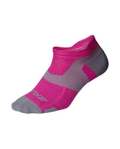 2XU Vectr Light Cushion No Show Sock (Magenta, Small)