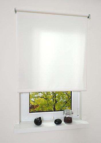 Liedeco® Rollo, Spring-, Schnapprollo / 132 x 180 cm (Breite x Höhe), weiß/lichtdurchlässig, Blickdicht/viele Farben, Größen und Typen/Breiten 60-200 cm/Variable Montage möglich