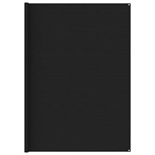vidaXL Tapis de Tente Tapis de Voyage de Camping Tapis de Patio Auvent de Caravane Extérieur Résistance aux Intempéries 300x600 cm Noir