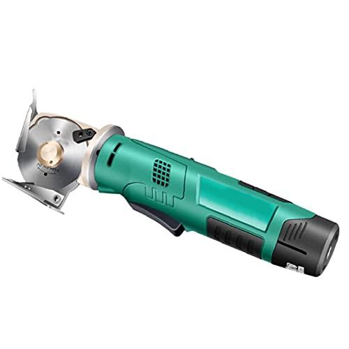 Función eléctrica tijeras sin cable verde de la tela redonda máquina de mano automático de afilado de trapo de Cuero Textil Herramientas eléctricas