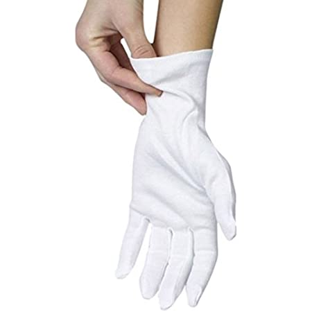Details about  /1 pair Cotton gloves Khan cloth Solid gloves rituals play white gloves