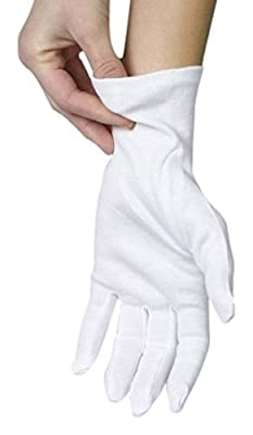 ANSMIO 12 Pairs Cotton Gloves, White Gloves for Dry Hands