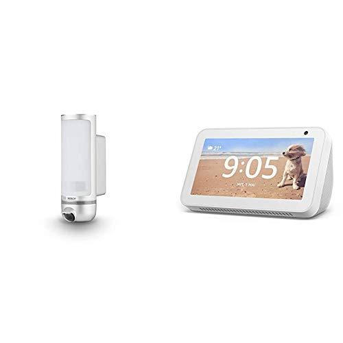 Bosch Smart Home Eyes Außenkamera, kompatibel mit Alexa + Echo Show 5 – Durch Alexa in Verbindung bleiben