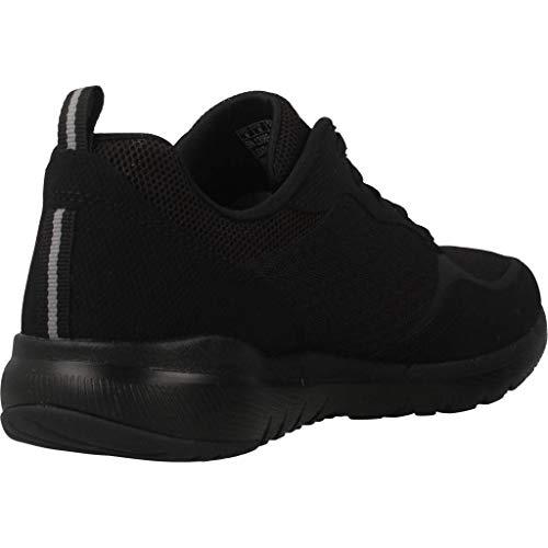 Skechers Women's Flex Appeal 3.0-go Forward Trainers, Black Black Leather Mesh Trim Bkw, 6 UK