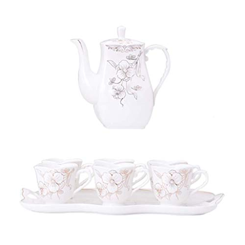 Best Review Of Tea Set - Household Living Room Ceramic Teapot Afternoon Tea Coffee Cup Milk Cup Deco...