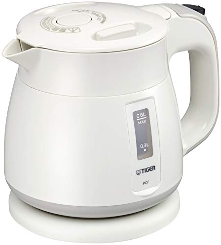 Tiger Thermos Electric Kettle 600ml White Wakuko PCF-G060-W Tiger