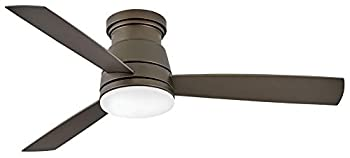 Hinkley 902752FMM-LWD Trey - 52 Inch 3 Blade Ceiling Fan with Light Kit Metallic Matte Bronze Finish with Metallic Matte Bronze Blade Finish with Etched Opal Glass