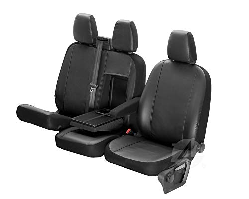 4D-Z4L-DV-VIP-TC3M-01-65 Housses de siège en cuir synthétique VIP parfaitement ajustées 1+2 (3 places) spécifiques au véhicule