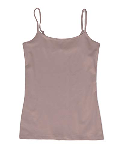Ann Taylor LOFT Outlet Women's Cotton Stretch Camisole Tank (Large, Mauve Taupe)
