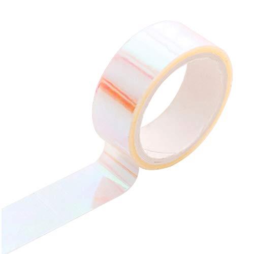 Blanco Mate Decorativo de Washi Conjunto de Cintas de Rollo de Bricolaje y Manualidades Envoltura de Regalo de Washi Tape