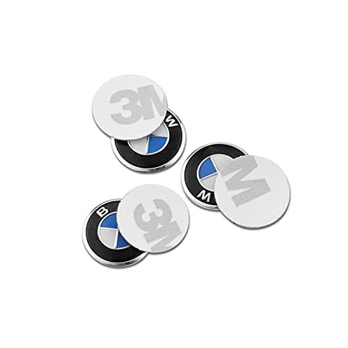 5 uds 14mm Aluminio Coche Remoto Llave Pegatina Emblema Accesorios para BMW...