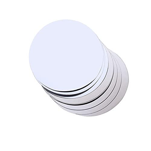 HUAIXIAOHAI 6/12/20 discos de papel de aluminio plateado para vertedor de vino, plegable, flexible, para evitar goteos, discos, discos, disparos multiángulos (color: 20 unidades)