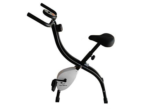 Karl Sports B35S Cyclette da Casa Pieghevole Sistema Brevettato di Resistenza a Fascia Inerzia 2 kg Schienale Supporto per Tablet Infinita variazione a Doppio Freno Magnetico sensori palmari