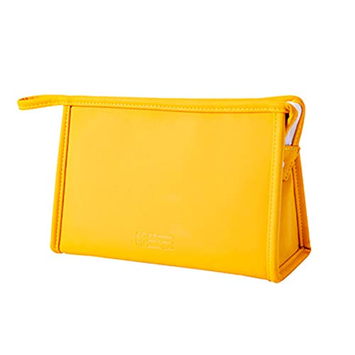 Yellow Travel Mini Cosmetic Bag Portable Frosted Waterproof Storage Bag, Suitable for Men and Women Travel Size Toiletriesstorage