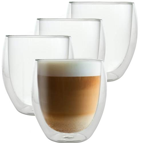 Caffé Italia Roma 4 x Juego de Vasos para Capuchino 250 ml...