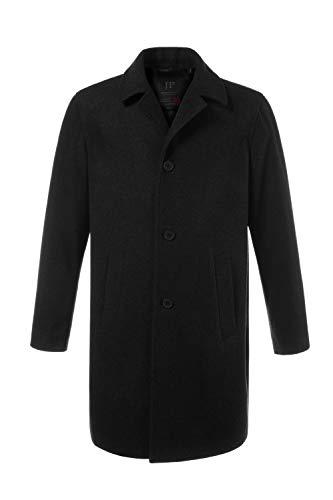 JP 1880 Men's Big & Tall Long Line Smart Overcoat Black XXX-Large 705472 10-3XL