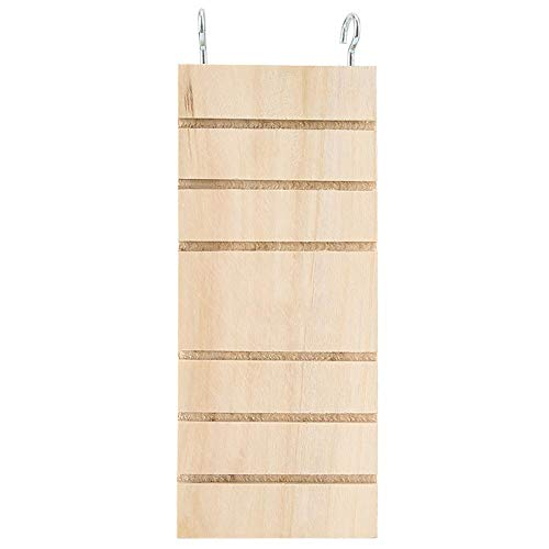 Haustier Holzleiter, mit hängendem Haken Holz Hamster Vogelständer Plattform Spielzeug Rest Board, sichere und umweltfreundliche Sitzstangen Käfig für kleine Haustier spielen, Ruhe, Zähneknirschen