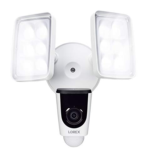 Lorex 1080p Wi-Fi Dual Floodlight Camera, Fully Weatherproof, 137° Field of View, IR Night Vision, 32GB microSD Card Included, Smart Home Compatibility