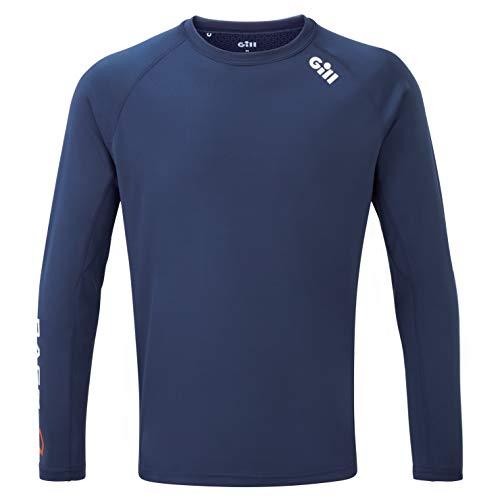 Gill T-Shirt à Manches Longues pour Hommes Race - Bleu foncé - Protection Solaire UV légère et Properties SPF