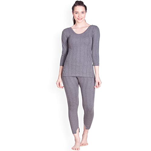 Lux Inferno Ladies 3/4 Thermal Top and Lower Set (90) Grey