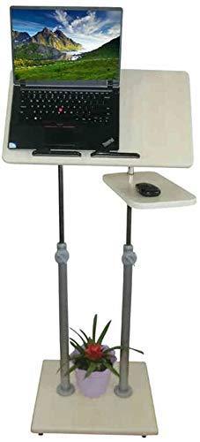Cxcdxd Nest der Tische Weißer Couchtisch Beistelltische Laptop-Tisch Mobiler Stehpult Podium Präsentation Rednerpult Höhenverstellbare Mehrzweck-Steharbeitsstation (Größe, B (90142) cm), B (90142)