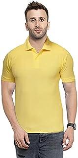 Camfoot Men's Cotton Collar & Plain Comfort Regular Slim Fit T-Shirt