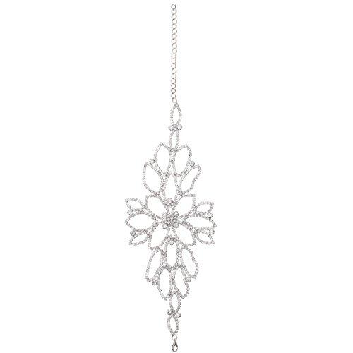 Unbekannt Strass Armreif Armband Fußkette Schmuck Armschmuck Blume Silber