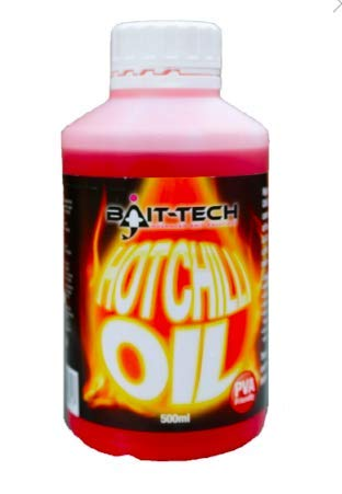 Bait-Tech Liquids/Glugs 500ml Hot Chilli Oil