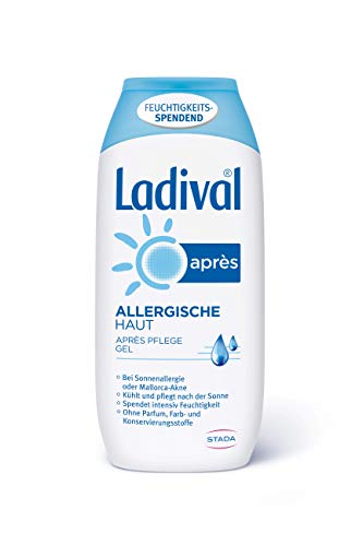 Ladival Allergische Haut Après Sun Gel – Parfümfreies After Sun Gel für Allergiker – feuchtigkeitsspendend und kühlend – ohne Farb- und Konservierungsstoffe – 200 ml