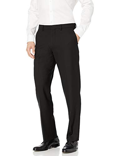 Amazon Essentials Men's Classic-Fit Wrinkle-Resistant Stretch Dress Pant, Black, 32W x 28L