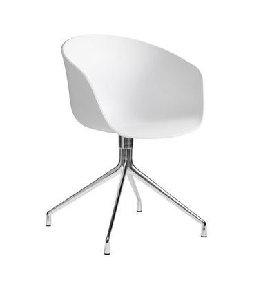 Hay about a chair aac 20 chaise avec accoudoirs et assise rotatif-structure aluminium poli blanc 20 AAC design by hee welling