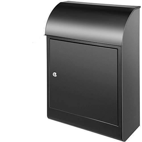 Happybuy Extra Large Mailbox 30.3x17.3x7.9 Inch, Wall Mount Mailbox with 2 Keys, Security Locking Dropbox 1.2mm Galvanized Steel for Outside Home Office to Collect Package and Mail
