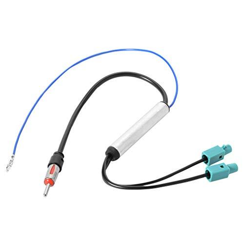 Wakauto Amplificador de Antena de Coche Filtro de Antena de Radio Adaptador de Antena de Coche Compatible para Volkswagen