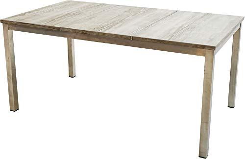 Ploß 1200057 Garten-Tisch Edelstahl Keramik-Platte B/T/H 220 x 90 x 75 cm