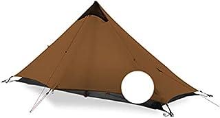 1 ultralätt campingtält för utomhusbruk 1 person 3/4 15D stånglöst tält