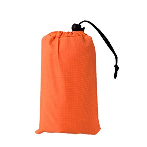 LALY A SHOP Tragbare wasserdichte Isomatte Outdoor Sand Free Beach Mat Decke Faltbare Bodendecker Picknick Matte Pad Camping Wandern Matratze, Orange, M