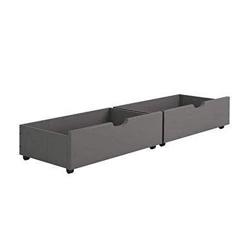Donco Kids Dual Under Bed Drawer, One Size, Dark Grey