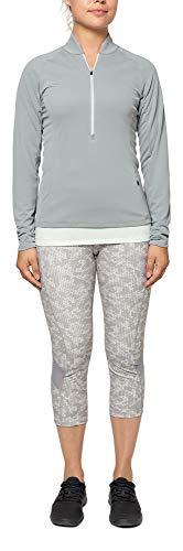 GoLite Damen Replay 1/2 Zip T-Shirt mit halbem Reißverschluss, Gull, X-Large