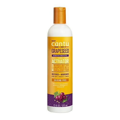 Cantu Crema activadora de rizos de semilla de uva, 12 onzas