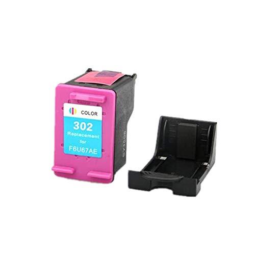 CMDZSW Reemplazo de Cartucho de Tinta remanufacturado 302XL para HP 302 HP302 XL Cartucho de Tinta para DeskJet 1110 1111 1112 2130 2131 Impresora (Color : 1 Color)