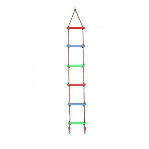 HLONGG Caliente Nuevos Juegos De Trepa, Columpio Tree House Den Jugar A Las Casitas Escaleras De Cuerda para Niños Kids Niños Al Aire Libre Escalera De Cuerda con Peldaños De Madera,Dutch