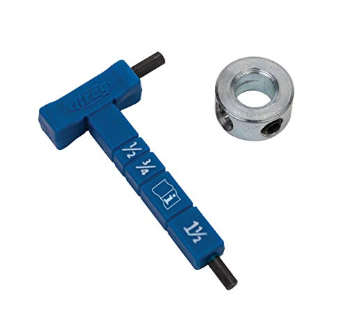 Kreg Easy-Set Stop Collar & Material Thickness Gauge/Hex Wrench Kit