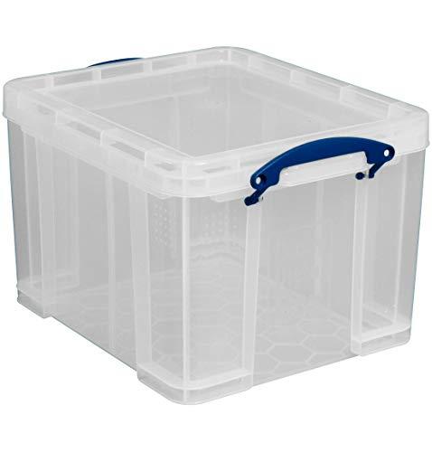 Really Useful Boxes Kunststoffbox, transparent, 35 Liter