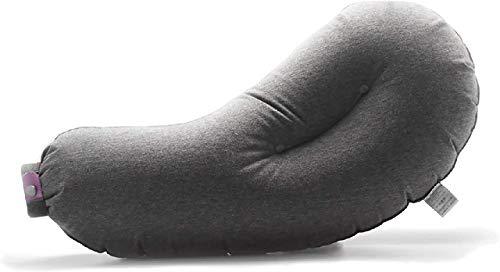 Aubergine Pillow - bequemes aufblasbares Kissen für unterwegs - Camping, Auto, Zug oder Flugzeug - das kleine Reisekissen ist klein faltbar Immer dabei